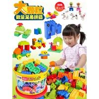 儿童积木玩具�犯叽罂帕F醋盎�木桌3-6周岁7-8-10男孩子女孩
