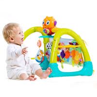 五合一健身架宝宝脚踏钢琴带音乐6-12个月婴幼儿安抚玩具 728