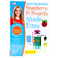 英文原版 DK系列儿童英语编程语言提高进阶 Raspberry Pi Projects Made Easy Key St