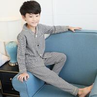 儿童睡衣长袖男童家居服春秋款纯棉薄款中大童春季12岁男孩