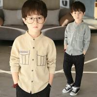 童装男童春装长袖衬衫新款儿童上衣薄中大童韩版春秋季衬衣潮