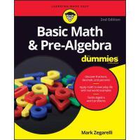 【预订】Basic Math & Pre-Algebra for Dummies, 2/e 9781119293637