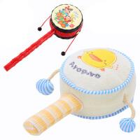 婴儿拨浪鼓毛绒手摇铃宝宝摇鼓手摇鼓0-1岁波浪鼓儿童玩具