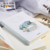 联华文具学生可爱彩边磁扣手帐本彩色空白页笔记本子加厚硬面抄记事本日记本
