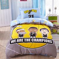 儿童三件套 棉卡通1.2米床单人全棉床上用品大学生宿舍被套 1.2(4英尺)床