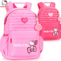hellokitty女童书包1-3-6年级女孩儿童凯蒂猫休闲减负双肩背包12