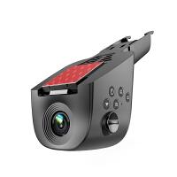 视车载隐藏式行车记录仪汽车单镜头碰撞感应测速电子狗