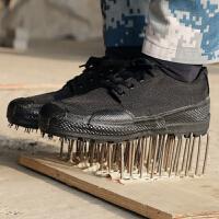 3515作训鞋07军鞋男耐磨劳保工地解放鞋女胶鞋帆布迷彩鞋黑色