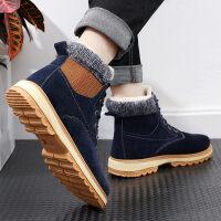 高帮雪地靴棉鞋男冬季保暖加绒学生加厚马丁棉靴英伦防滑潮棉靴子
