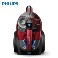 飞利浦(PHILIPS)卧式吸尘器 家用大功率强劲大吸力高效过滤无尘袋除螨除尘器 FC9735/81 (暗红色)