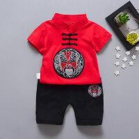 宝宝夏季短袖套装345岁女童夏装儿童衣服男童中国风两件套
