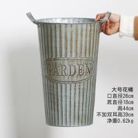 创意家居大号花桶铁皮桶美式复古铁艺花器花盆花店装饰