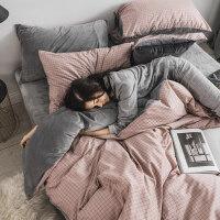 珊瑚绒纯棉四件套全棉冬季水晶法兰绒欧式网红床上三件套被套床单