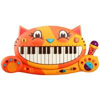 美国比乐宝宝男女孩音乐玩具B.Toys大嘴猫琴儿童益智早教电子钢琴