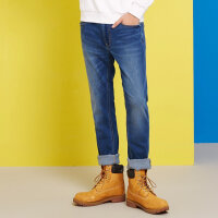 【1件3折到手价:37.5】美特斯邦威牛仔裤男弹力修身春季新款休闲长裤韩版潮商场款