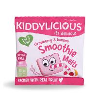 英国童之味kiddylicious草莓香蕉水果溶溶豆宝宝零食婴幼儿溶豆6g