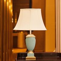 创意欧式样板房卧室房间床头柜软装饰品现代简约台灯家居客厅摆件 宫廷雕花台灯