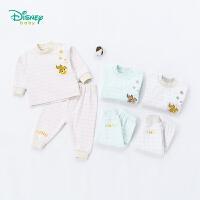 迪士尼Disney童装秋季新款套装纯棉卡通尼莫肩开扣可开档男女宝宝家居服183T798