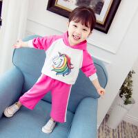 2018新款婴儿卫衣小孩衣服洋气女宝宝秋装套装0一1-2-3岁韩版潮