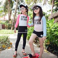 韩国儿童泳衣3 4 5 6 7 8 9 10岁中大童女童学生长袖长裤分体泳衣