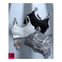运动内衣女学生高中少女文胸无钢圈薄款吊带小背心发育期裹胸抹胸 均码