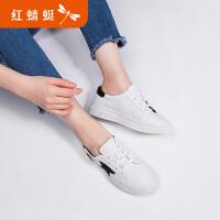 【红蜻蜓618开门红、领�患�100】红蜻蜓女鞋夏新款正品时尚平底鞋透气休闲女板鞋小白鞋女