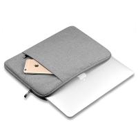 13.5英寸 微软笔记本电脑包 Surface Book 内胆包 加绒 保护套 浅灰色 (布艺款) 13寸