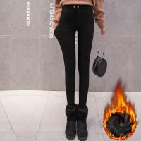 加绒加厚打底裤女外穿冬季新款保暖黑色魔术裤棉铅笔裤小脚裤