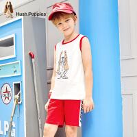 【3件3折券后预估价:81元】暇步士童装男童套装夏季新款轻薄运动背心休闲短裤儿童两件套
