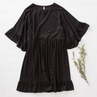 【全场2件2.5折,到手价:52.5】美特斯邦威连衣裙女秋装新款文艺简约廓形原宿风气质连衣裙