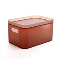 桌面收纳塑料盒子透明办公桌书桌整理盒梳妆台化妆品收纳盒