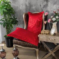20181030015435399大红婚庆枕套 结婚枕头套 丝绵贡缎提花枕芯套 天丝枕头套一对 48cmX74cm