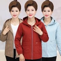 中老年女装秋装风衣新款秋季时尚中长款长袖夹克外套妈妈装女上衣