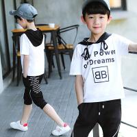 男童夏装新款套装夏季童装短袖两件中大童帅气潮衣