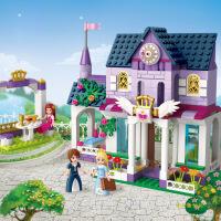 女孩益智组装拼装塑料积木玩具 仙境湖游园会 / 皇家御书院