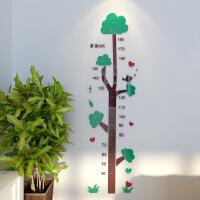 身高墙贴测量仪3d立体可移除儿童测量尺装饰宝宝卧室贴画贴纸 大