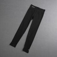 健身裤女紧身高腰瑜伽裤提臀弹力训练跑步运动裤长裤速干裤子 黑 色
