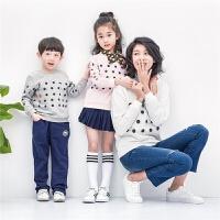 童装春秋装女童上衣中大童儿童长袖卫衣圆领休闲t恤韩版