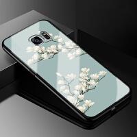 三星s7手机壳直屏galaxy s7玻璃保护套SM-G9300全包防摔软硅胶卡通可爱女款粉红豹时尚男