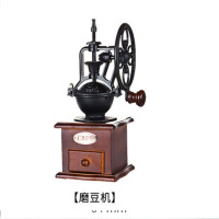 咖啡豆研磨机家用磨粉机小型咖啡机手动复古大轮手摇磨豆机 +3人份虹吸壶+蓝山咖啡豆454g