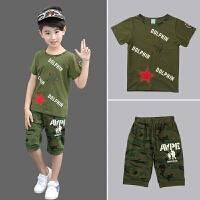 儿童迷彩服套装运动童装男童夏装季男孩军装潮衣短袖夏季