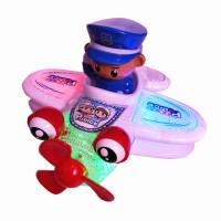 灯光音乐飞机电动玩具车男孩子女童宝宝玩具0-1-2岁婴儿童3周岁半 万向音乐小飞机 颜色随机发