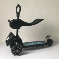 鲨鱼宝宝三合一滑板车小孩踏板车幼儿童闪光扭扭可坐滑滑车2岁3岁 鲨鱼三合一 ● 酷黑