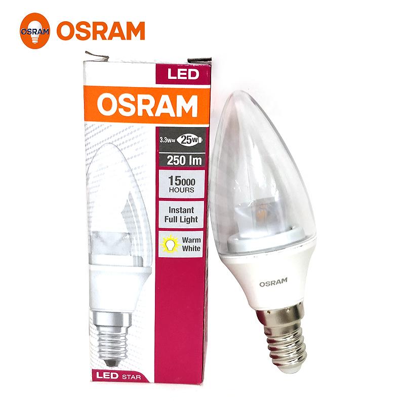 欧司朗(OSRAM)LED灯泡 新星亮B型3.3W LED球泡家用照明节能灯E14