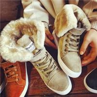 欧洲站新款真皮雪地靴女士皮面靴子加厚棉鞋短靴女靴平底女鞋冬潮