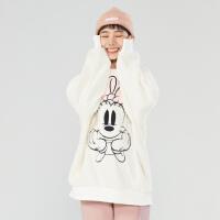 【2件1.5折价:104.9,可叠券】美特斯邦威卫衣女秋季时尚女MTEE愿望成真迪士尼羊羔绒