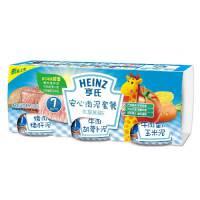【当当自营】亨氏 Heinz果泥含钙含铁套餐E2段(8-36个月)113g*3瓶/组(利来国际ag手机版电话:010-5799256