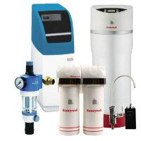 Honeywell/霍尼韦尔前置过滤器 FK74C +中央净水机WHF-30+PW-60B 软水机+净水器 CP50