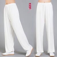 太极裤女男莫代尔灯笼裤武术裤瑜伽练功裤太极服裤子 白色 XS