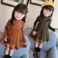 女童冬装17韩版新款连衣裙宝宝加厚公主裙儿童秋冬长袖裙子A4-B5